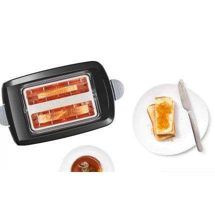 Prajitor de paine Bosch CompactClass TAT3A013 suport chifle, sertar firimituri, negru
