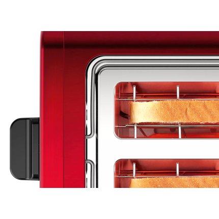 Prajitor de paine Bosch TAT4P424 DesignLine, 2 felii, rosu