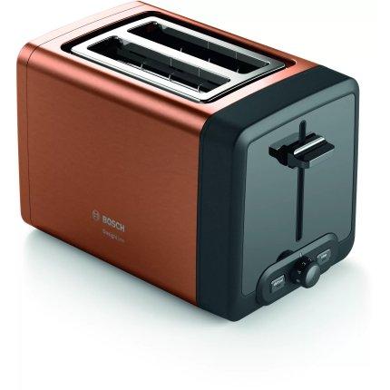 Prajitor de paine Bosch TAT4P429 DesignLine, 2 felii, cupru