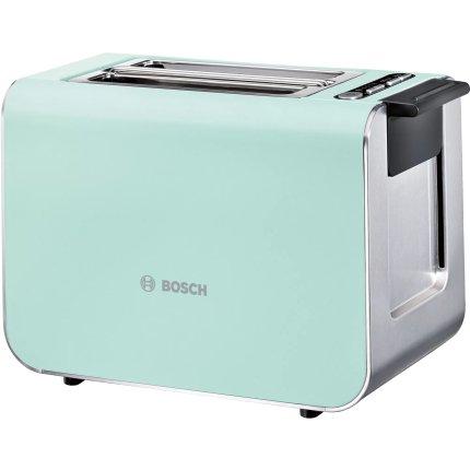 Prajitor de paine Bosch TAT8612 Styline, 2 felii, 860W, verde