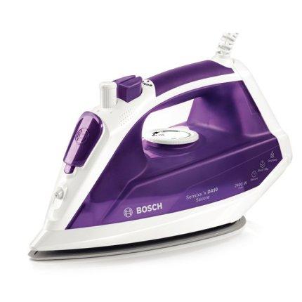 Fier de calcat Bosch TDA1024110 Sensixx'x DA10 Secure 3AntiCalc, 2400W, talpa PalladiumGlissee, alb / violet inchis