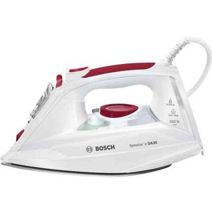 Fier de calcat Bosch TDA302801W Sensixx'x DA30, 2800W, 3AntiCalc, talpa CeraniumGlissee, alb