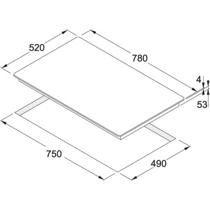 Plita inductie incorporabila Franke Maris FHMR 804 2I 1 FLEXI WH cu 4 zone, Glass White