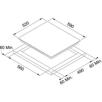 Plita electrica incorporabila Franke FHR 604 C T WH, 4 zone, 60 cm, Vitroceramica, Glass White