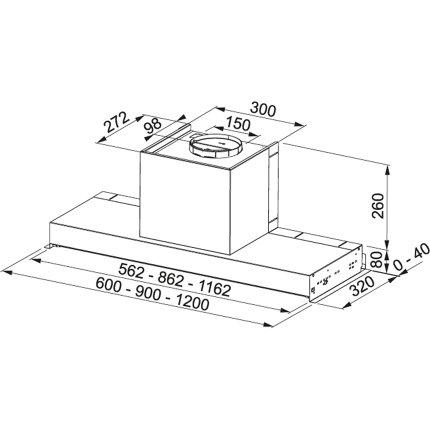 Hota incorporabila Franke Style Plus FSTP NG 905 X, 90cm, 540m3/h, inox