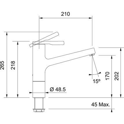 Baterie bucatarie Franke Frames by Franke FS TL SW aspect inox
