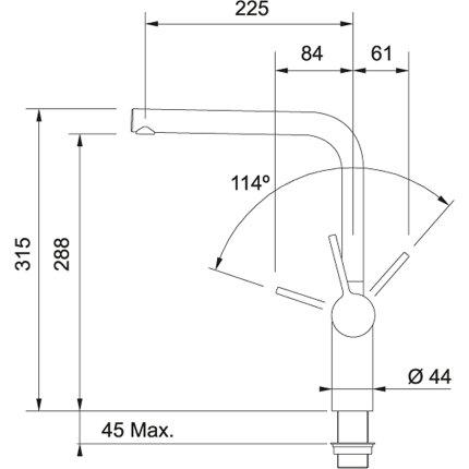 Baterie Franke Frames by Franke FS SL SW inox