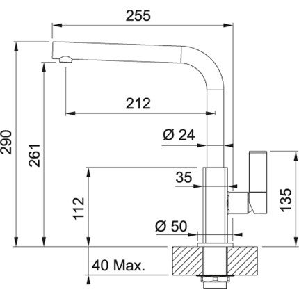 Set Franke Oyster: Chiuveta fragranite Maris MRG 611, 780x500mm + Baterie bucatarie Maris Plus