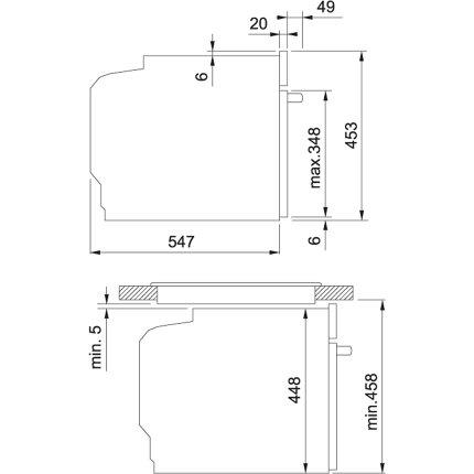 Cuptor electric incorporabil Franke Frames by Franke FSO 45 FS C TFT CH CS cu aburi, 17 programe, 51 litri, Champagne