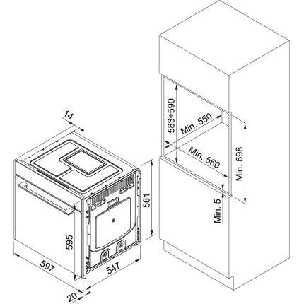 Cuptor electric incorporabil Franke Frames by Franke FS 913M BK DCT TFT, 73 litri, 17 programe, Champagne