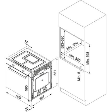 Cuptor electric incorporabil Franke Crystal Black CR 982 M BK M DCT TFT, 74 litri, 18 functii, Negru