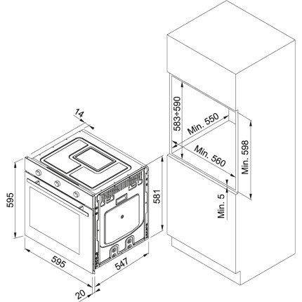 Cuptor electric incorporabil Franke Maris Free by Dror MA 82 M, 74 litri, 9 functii, AquaClean, Sterling Silver