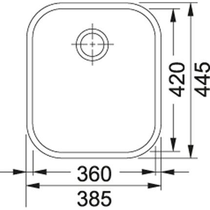 Chiuveta Franke ZOX 110-36 cu montare sub blat, 360x420mm, inox satinat