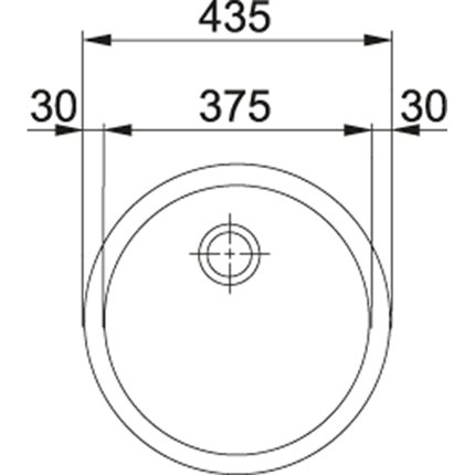 Chiuveta bucatarie Franke RBX 110-38 cu 1 cuva, montare sub blat, d 375mm, inox satinat