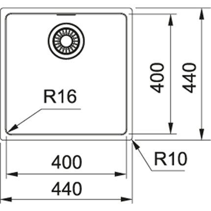 Chiuveta Franke Maris MRX 210-40, 440x440mm, inox satinat