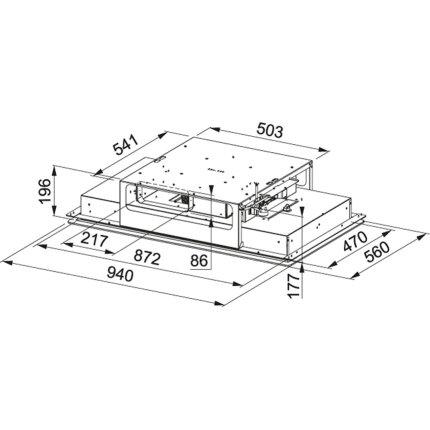 Hota de tavan Franke Mythos Flat FMYCF 906 WH, 90cm, Cristallo Bianco
