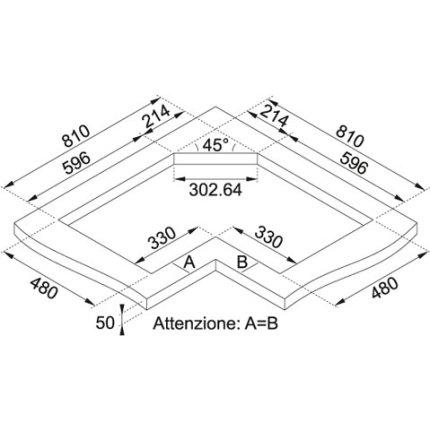 Plita gaz incorporabila Franke Angolo - Neptune FHNE COR 4 3G TC XT C, 4 arzatoare, 83x83x50cm, gratare fonta, Inox Microdekor