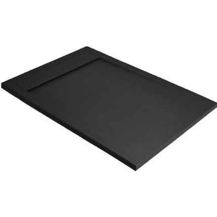 Cadita dus dreptunghiulara slim Radaway Teos F 100x90x4cm, marmura, negru
