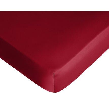 Cearceaf de pat cu elastic Tommy Hilfiger Unis Satin Bordeaux