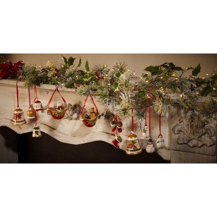 Set 3 decoratiuni Villeroy & Boch My Christmas Tree Snowman 21cm