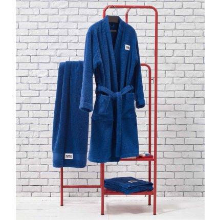 Halat de baie kimono Tommy Jeans TJ Soft L, albastru