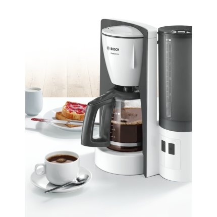 Cafetiera Bosch TKA6A041 ComfortLine, 1.25 litri, 1200W, alb - gri inchis