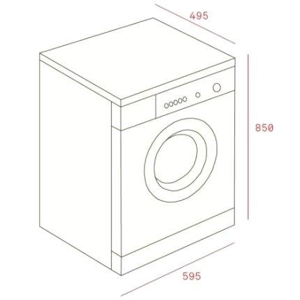 Masina de spalat rufe Teka SPA TKD 1270 7kg, 1200rpm, A+++, alb