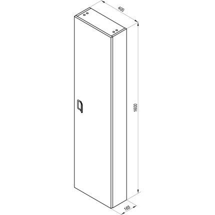 Dulap inalt suspendat Ravak SB Comfort 400, 160x40x16.5cm, alb