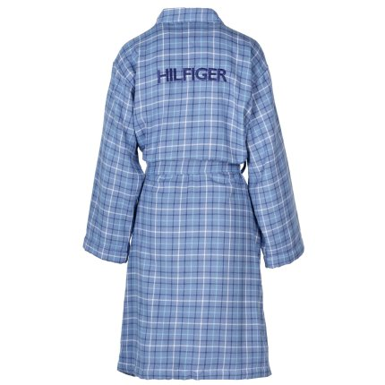 Halat de baie kimono Tommy Hilfiger Denim Checks M, Albastru