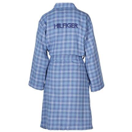Halat de baie kimono Tommy Hilfiger Denim Checks XL, Albastru