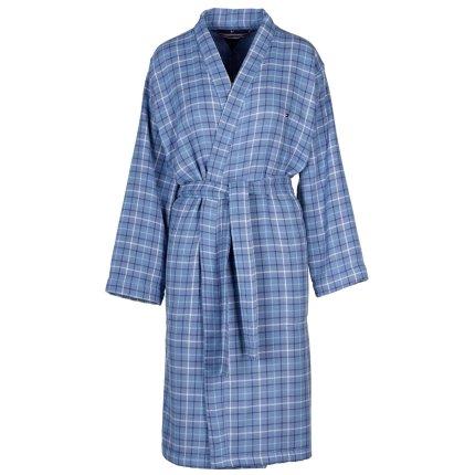 Halat de baie kimono Tommy Hilfiger Denim Checks S, Albastru