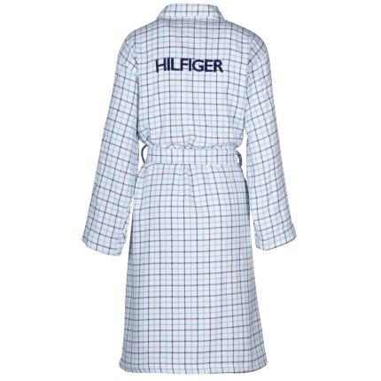 Halat de baie kimono Tommy Hilfiger Denim Checks L, Alb