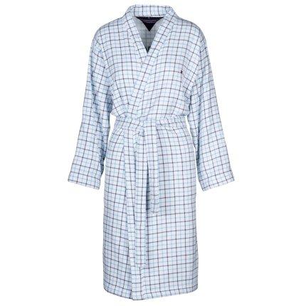 Halat de baie kimono Tommy Hilfiger Denim Checks S, Alb