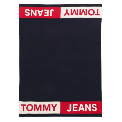 Pled Tommy Jeans TJ Band 130x170cm, albastru navy