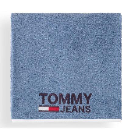 Prosop baie Tommy Jeans TJ Logo 70x130cm, albastru denim
