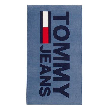 Prosop plaja Tommy Jeans TJ Logo 93x170cm, albastru denim