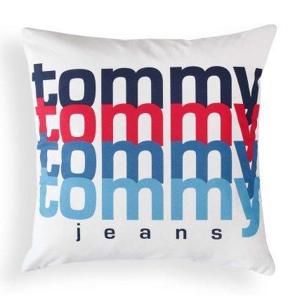 Perna decorativa Tommy Jeans TJ Rainbow 40x40cm, albastru navy