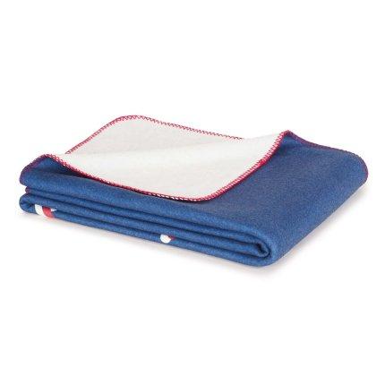 Pled Tommy Jeans TJ Soft 130x170cm, albastru