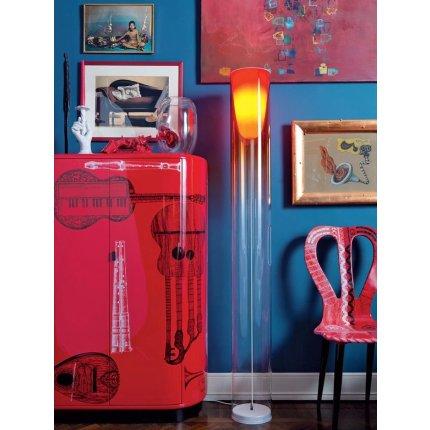 Lampadar Kartell Toobe design Ferruccio Laviani, h170cm, d20cm, albastru