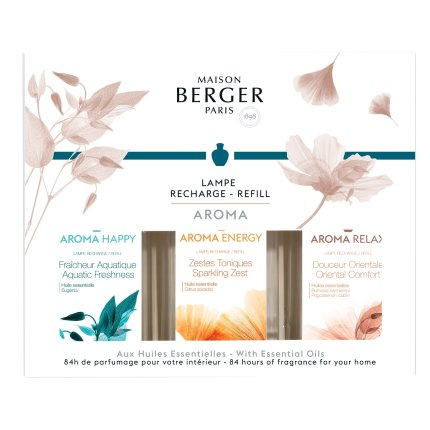 Set parfum pentru lampa catalitica Berger 3x180ml: Douceur Orientale, Aquatic Freshness si Sparkling Zest