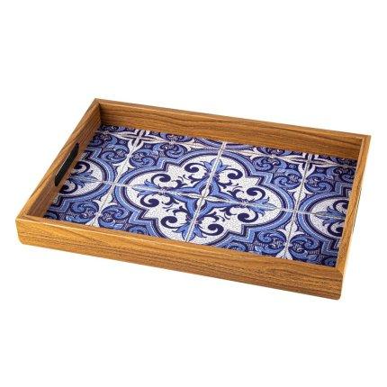 Tava Manopoulos 45x32cm, Blue Mosaic