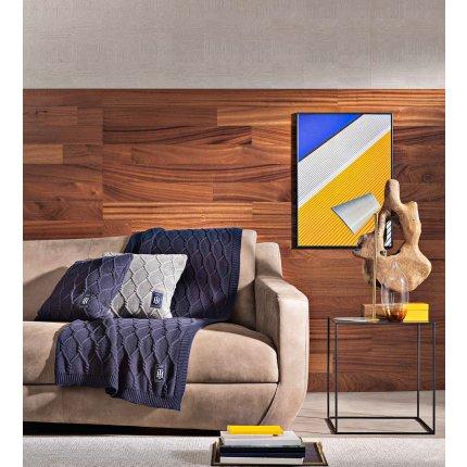 Pled Tommy Hilfiger Twist Decos 130x170cm, Albastru Navy