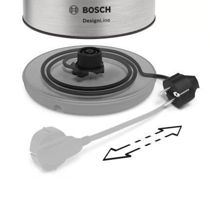 Fierbator Bosch TWK3P420 Design Line, 1.7 litri, inox
