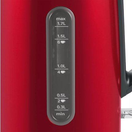 Fierbator Bosch TWK4P434 Design Line, 1.7 litri, rosu