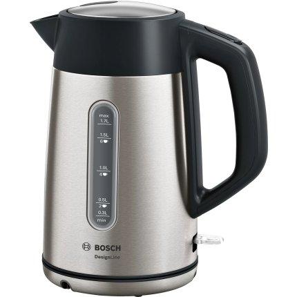 Fierbator Bosch TWK4P440 Design Line, 1.7 litri, inox