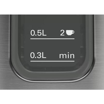 Fierbator Bosch TWK5P475 Design Line, 1.7 litri, grafit