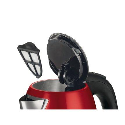 Fierbator Bosch TWK7804 1.7 litri, 2200W, inox, GlamourRed-Black