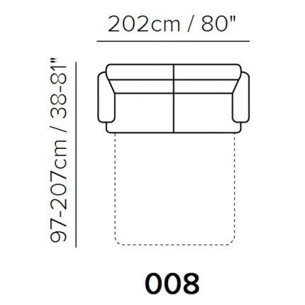 Canapea extensibila Softaly U264 cu 3 locuri, 202cm, tapiterie Mattinata maro 03