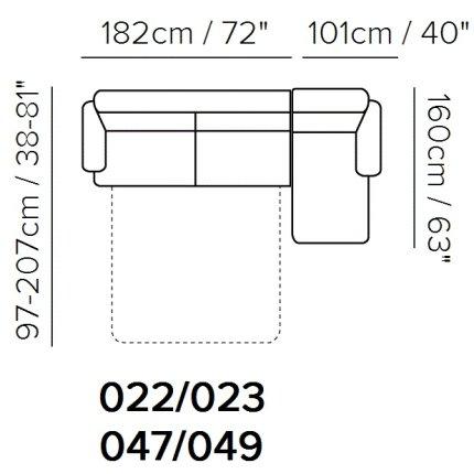 Canapea de colt extensibila Softaly U264 orientare stanga, tapiterie piele Sulmona maro A005