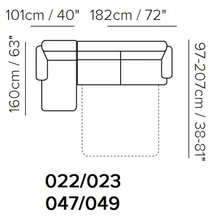 Canapea de colt extensibila Softaly by Natuzzi U264 orientare stanga, tapiterie Mattinata bej 02